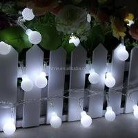 Globe String Lights Battery Operated Fairy Lights 4M 40 Round Ball Ideal for Christmas, Party, Wedding(White) HNL003