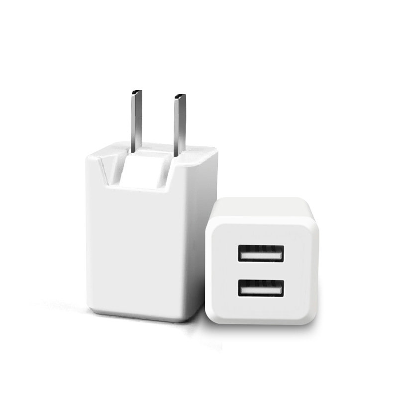 USA standard dual USB wall charger 5V 2.1A Japan USB mobile charger,two port home travel plug power adapter for iphone
