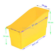 High Quality Yellow Durable Book and Binder Holders Hot Sale Plastic Classroom Book Organizers Fashionable Magazine Stroage Pins