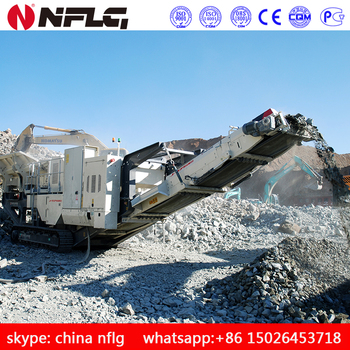 High quality best price tire type mobile crusher station for sale