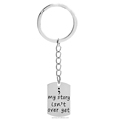 Wholesale My Story Isn't Over Yet Stamped Mental Custome Keychain