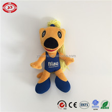 Sexy racial girl with yellow long hair dancer stuffed nylon fabric toy