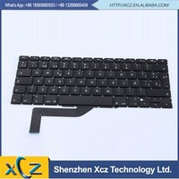 Laptop arabic us uk euro spanish german italian swedish layout keyboard for macbook pro 15'' A1398 keyboard