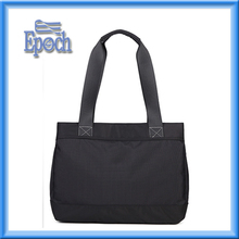Plain black high quality nylon woman hand bag