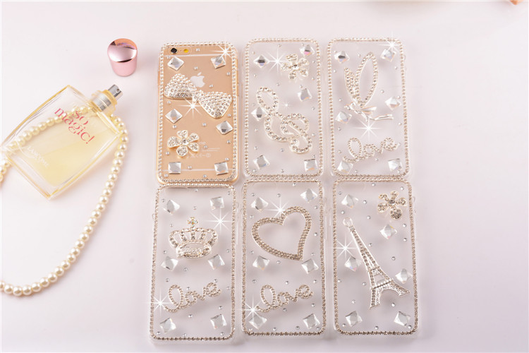Luxury Glitter DIY Diamond Back Phone Case Cover for apple iPhone 6, Cover for Apple iPhone