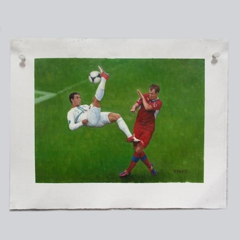 Football Star Portrait Photo To Canvas Painting Online