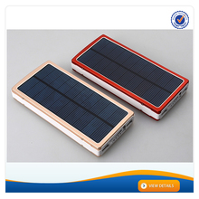 AWC709 High Capacity 15000mAh Power Bank with Led Light Dual USB Outputs External Battery Charger Solar Battery Charger