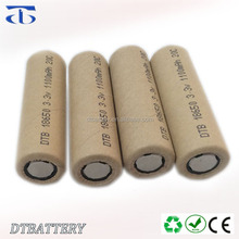 Long cycle life 30C LiFePO4 high discharge rate DTB18650 battery 3.2V 1100mAh