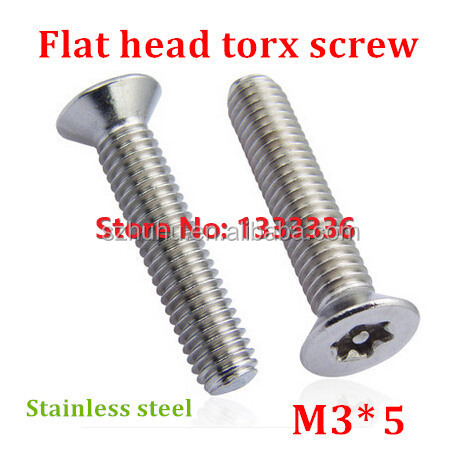 100pcs M3*5 Countersunk Head <strong>Torx</strong> <strong>Screw</strong> 6-Lobe Bolt / Security Anti-theft with Pin Flat Machine <strong>Screws</strong> with Free <strong>Torx</strong> Key