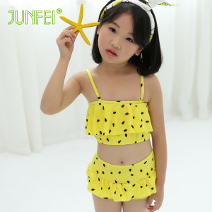 Factory direct selling skin-friendly not fade quick drying hot selling kids summer bikini swimwear