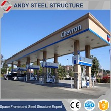 Awning metal frame gas /petrol station design