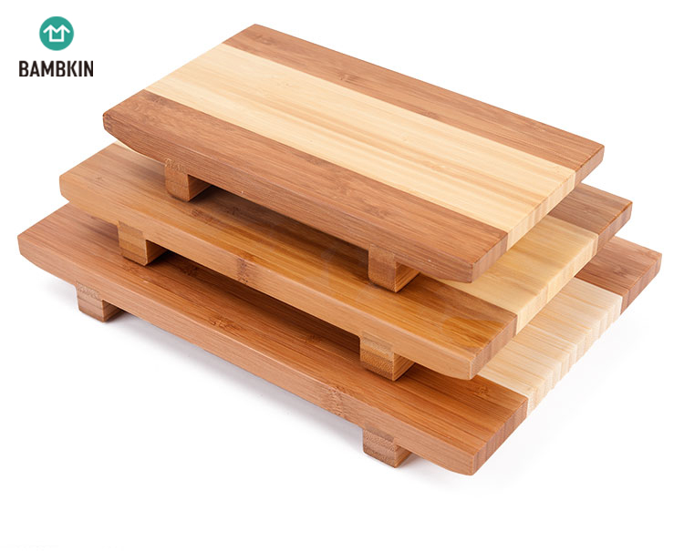 100% <strong>natural</strong> bamboo wooden sushi tray serving plate for home or restaurant
