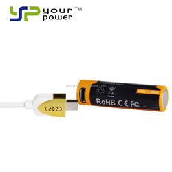 3.6v AA usb charging lithium ion battery