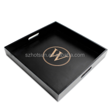 Custom Excellent Quality Black <strong>Plastic</strong> Acrylic Serving Tray