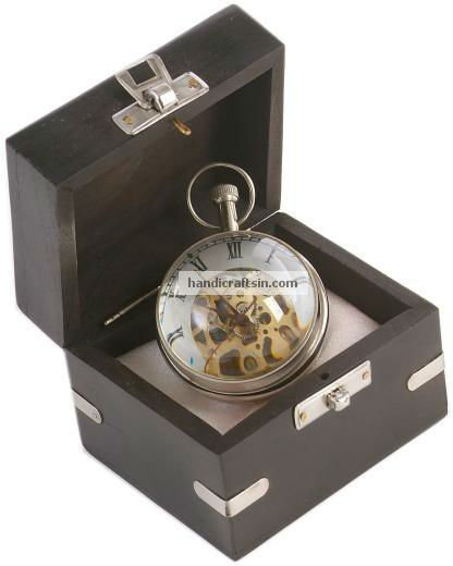 Skeleton Paperweight Clock in Box