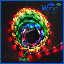 5m WS2812B 30LEDs/M Full Color Pixel 5050 RGB IP65 LED Strip 5V Arduino BLACK