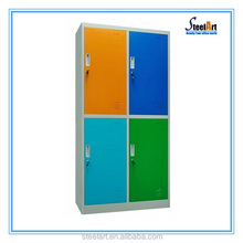 Clothing storage cabinet 4 compartment steel locker