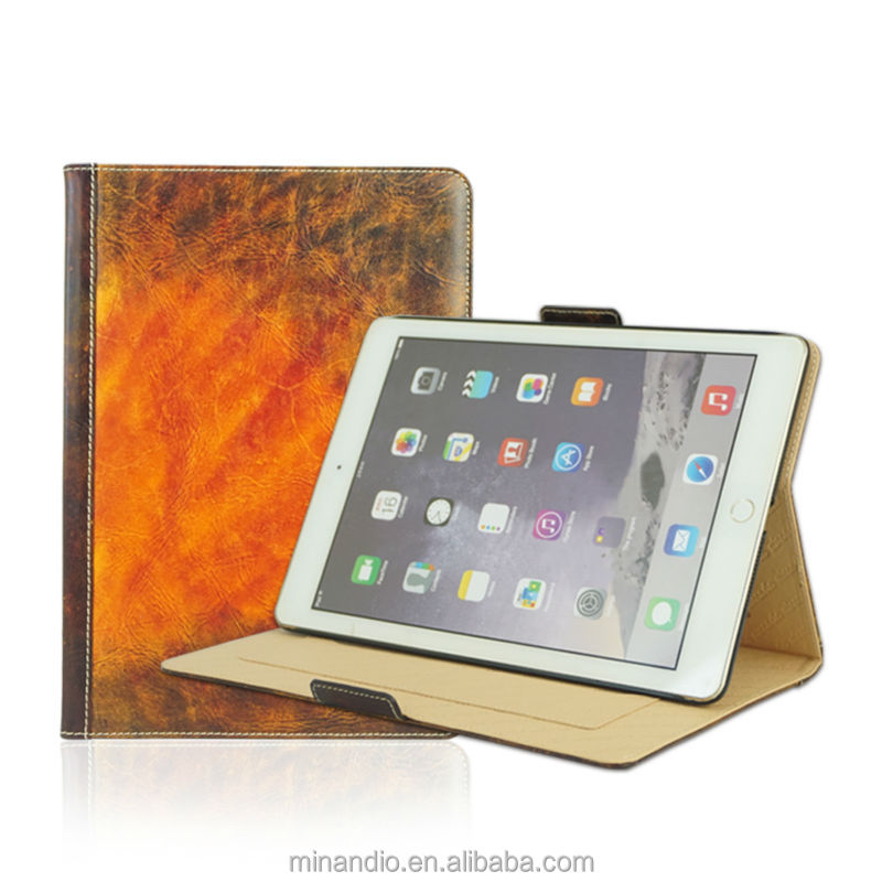 China suppliers new product genuine leather vintage case for ipad cover