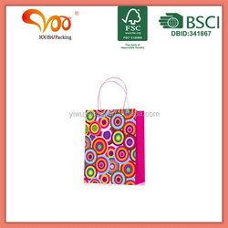 2016 New Arrival Good Quality Eco-friendly rose nylon foldable shopping bag
