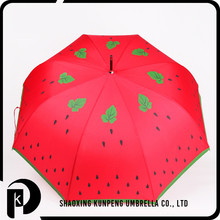 Digital printing for photo design smart size cartoon printing baby umbrella watermelon sun umbrella white and green