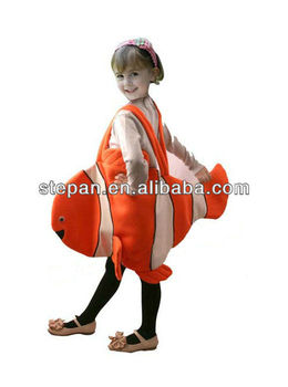 Tz 81089 kids clown fish costume buy clown fish costume for Clown fish costume