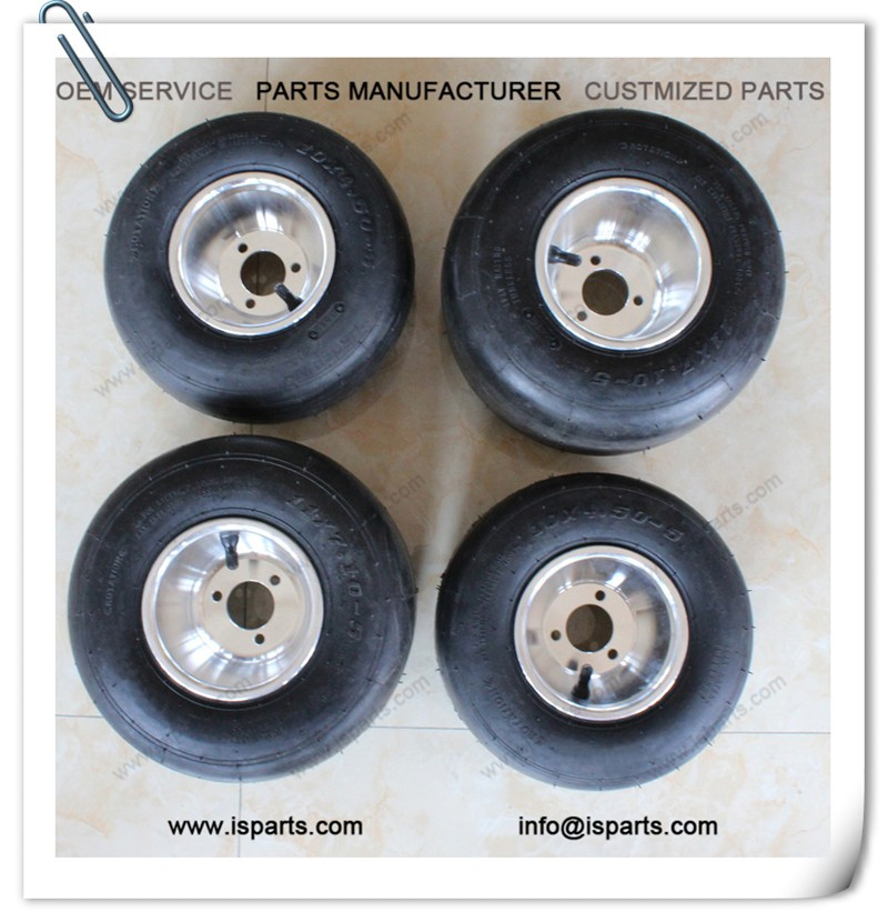 11*7.1-5 and 10*4.5-5 set mini atv wheels & tyre go kart tire