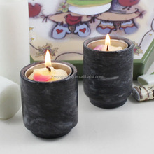 top selling colorful natural marble stone candle cup with engraved logo
