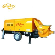 best price concrete trailer pump conveying concrete equipment