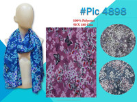 New summer poly-spun scarf printed
