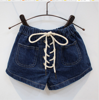 Latest Fashion Shorts Girls Personality Shorts Children Denim Shorts With Rope