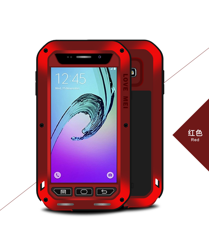 hot selling Original LOVE MEI Shockproof Aluminum phone case for samsung galaxy A3100