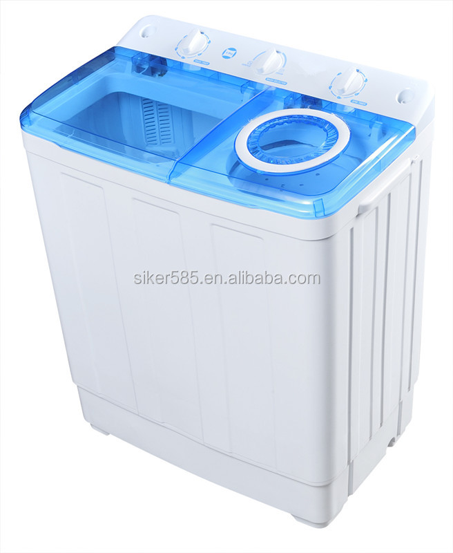 Transparent cover 6.5KG semi automatic top loading washing machine