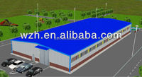 prefab steel structure warehouse , plant frame steel buildings / prefabricated hangar