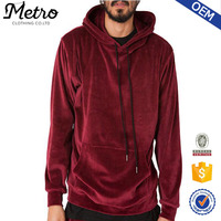 OEM Best Price Men Red Velour Hoodie Tracksuit