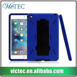 Wholesale customized heavy duty stand armor case for iPad mini 4
