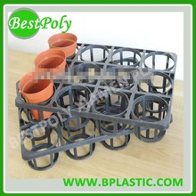 HOTE SELL custom plastic flower pot carry tray