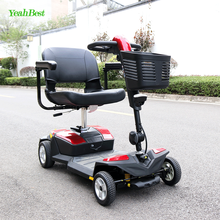 Lightweight 4 Wheel Electric 500w 24v Mobility Scooter Motor controller With Pedals And Suspension For Old Man And Handicapped