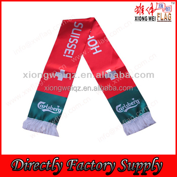 cheap selling advertise polyester scarf for promotional