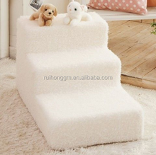 New Three Steps cat dog puppy Steps with Washable soft cover Foam Pet Stairs Ramp