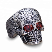 Trade Assurance Wholesale 316L stainless steel skull ring for man
