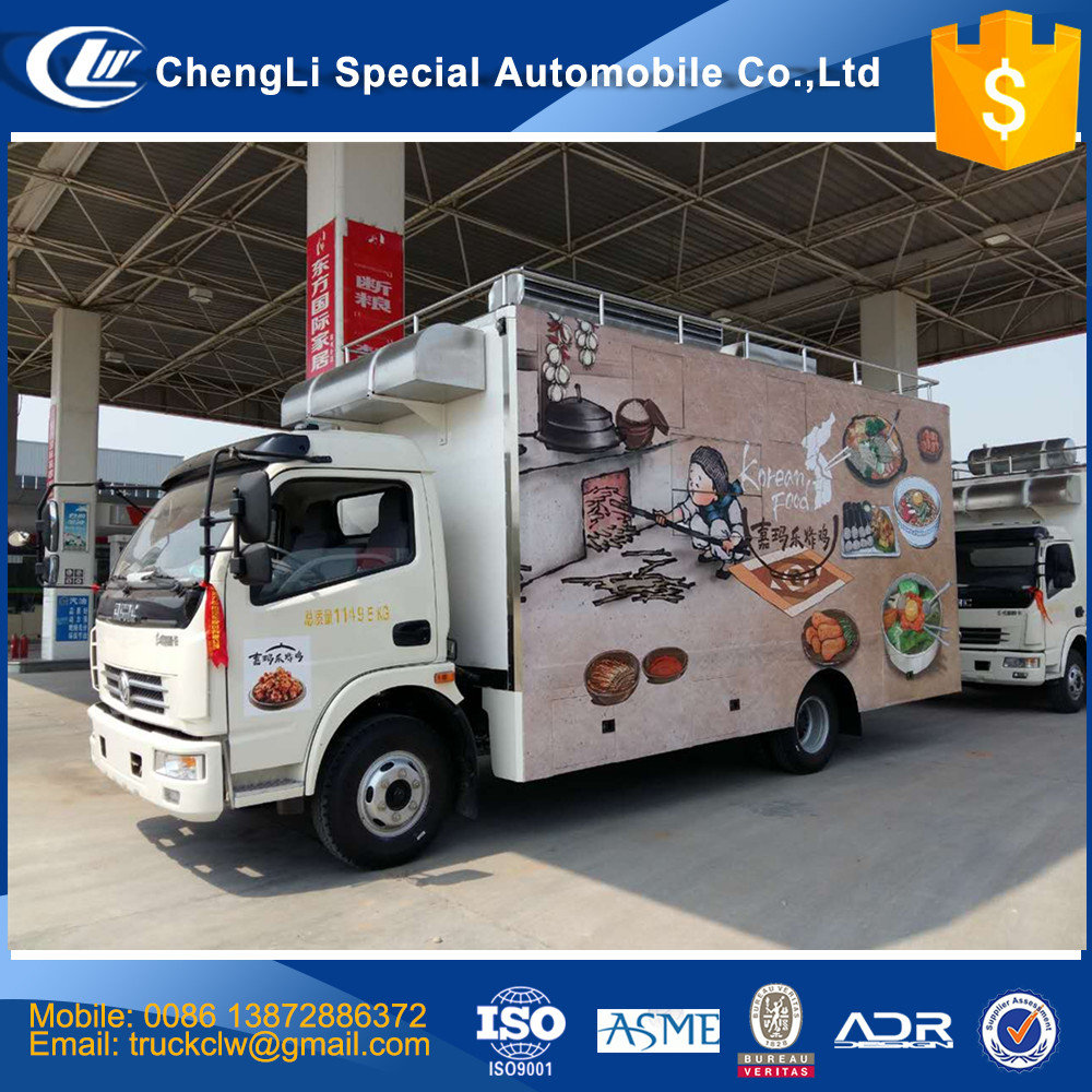 Fast Food mobile kitchen trailer food frozen machine vending cart food warmer truck with refrigerator freezer cheaper price