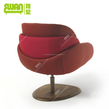 2168 wooden red leisure chair