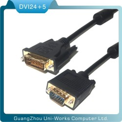 High quality 1.5m 24+5 DVI Male to VGA Female monitor cable