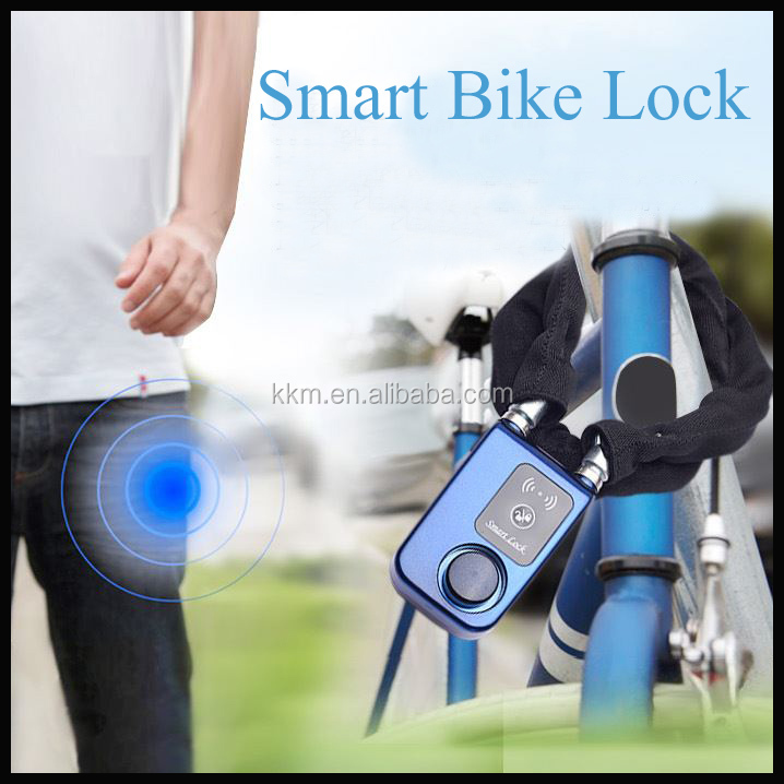 Utility Prevent Steal Security Bluetooth Auto Lock Shop Door Lock with Alarm Sound