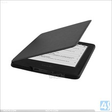 Leather Black Smart Case Cover for Amazon Kindle 7th Generation (2014) with toch