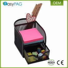 EasyPAG High Quality Mesh Design office school desk stationery organizer with drawer