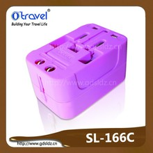 2015 Hot Worldwide Travel Adapter travel to American, Japan, England, France countries with optional USB port