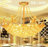 Gold crystal ball pendant light bed shape crystal chandelier italian crystal chandelier