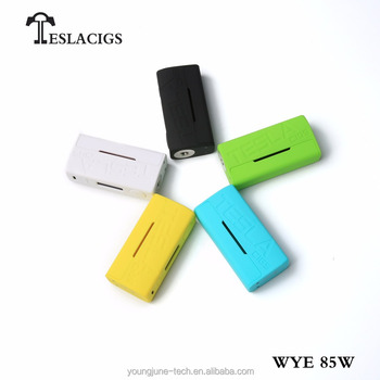 Colorful Teslacigs box mod WYE 85w , ecigs the lightest dual 18650 vape device from Tesla factory
