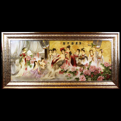 Wholesale Handmade cloisonne Filigree beautiful woman painting
